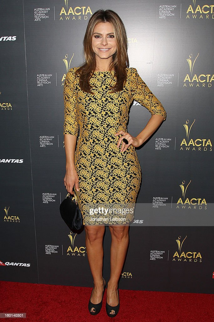 <a gi-track='captionPersonalityLinkClicked' href=/galleries/search?phrase=Maria+Menounos&family=editorial&specificpeople=203337 ng-click='$event.stopPropagation()'>Maria Menounos</a> attends the 2nd AACTA International Awards at Soho House on January 26, 2013 in West Hollywood, California.