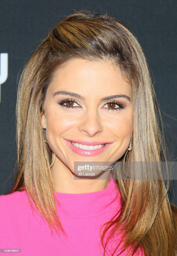 Maria Menounos attends the 8th Annual Pink Party at Barkar Hangar on October 27, 2012 in Santa Monica, California.
