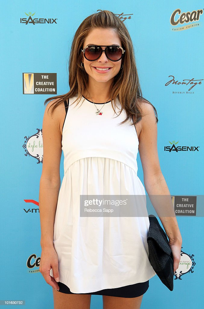 <a gi-track='captionPersonalityLinkClicked' href=/galleries/search?phrase=Maria+Menounos&family=editorial&specificpeople=203337 ng-click='$event.stopPropagation()'>Maria Menounos</a> attends the Kari Feinstein MTV Movie Awards Style Lounge held at Montage Beverly Hills on June 4, 2010 in Beverly Hills, California.