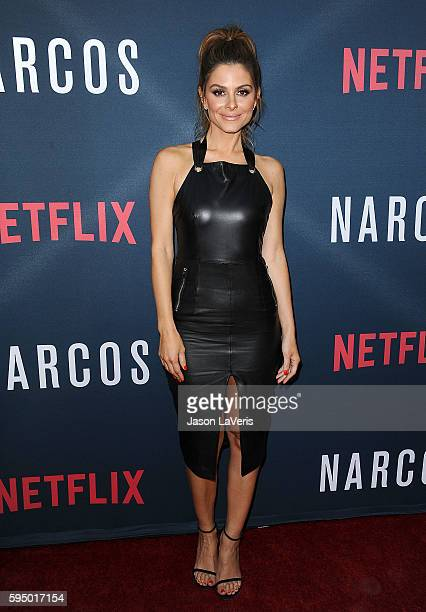 Maria Menounos attends the season 2 premiere of 'Narcos' at ArcLight Cinemas on August 24 2016 in Hollywood California
