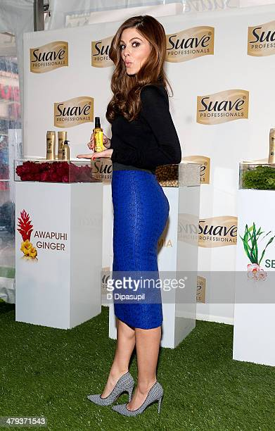 Maria Menounos attends the Suave Professionals Natural Infusion Collection Launch in Times Square on March 18 2014 in New York City