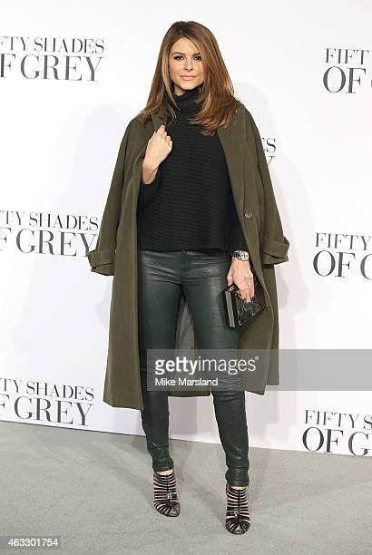 Maria Menounos attends the UK Premiere of 'Fifty Shades Of Grey' at Odeon Leicester Square on February 12 2015 in London England