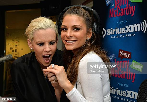 Maria Menounos discusses her engagement to longtime boyfriend Keven Undergaro on Jenny McCarthy's exclusive SiriusXM Show 'Dirty Sexy Funny with...