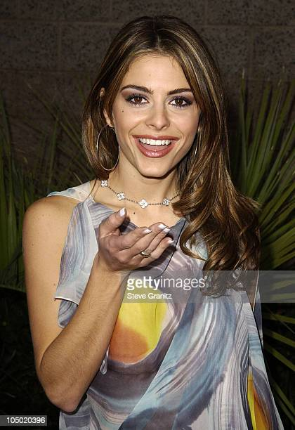 Maria Menounos during 2002 Billboard Music Awards Arrivals at MGM Grand Arena in Las Vegas Nevada United States