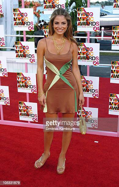 Maria Menounos during 2004 MTV Video Music Awards Arrivals at American Airlines Arena in Miami Florida United States