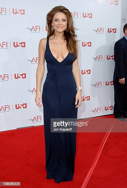 Maria Menounos during 34th Annual AFI Lifetime Achievement Award A Tribute to Sean Connery Arrivals at Kodak Theatre in Hollywood California United...