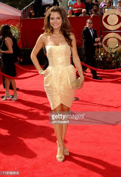 Maria Menounos during 57th Annual Primetime Emmy Awards Arrivals at The Shrine in Los Angeles California United States