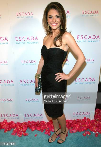 Maria Menounos during Launch of Escada's Newest Scent 'Pacific Paradise' at Lobby in West Hollywood California United States