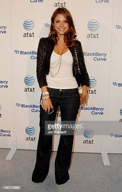 Maria Menounos during Launch Party for the new BlackBerry Curve from ATT Arrivals at Beverly Wilshire Hotel in Beverly Hills California United States
