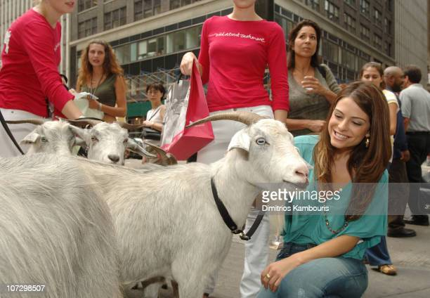 Maria Menounos during Olympus Fashion Week Spring 2006 Saks Fifth Avenue Wild About Cashmere Campaign at Bryant Park in New York City New York United...