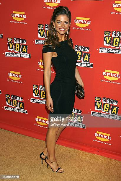 Maria Menounos during Spike TV's 2006 Video Game Awards Arrivals at The Galen Center in Los Angeles California United States
