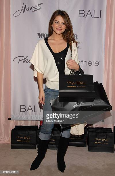 Maria Menounos during Wonderbra at the Silver Spoon Beauty Buffet Day Two in Beverly Hills California United States