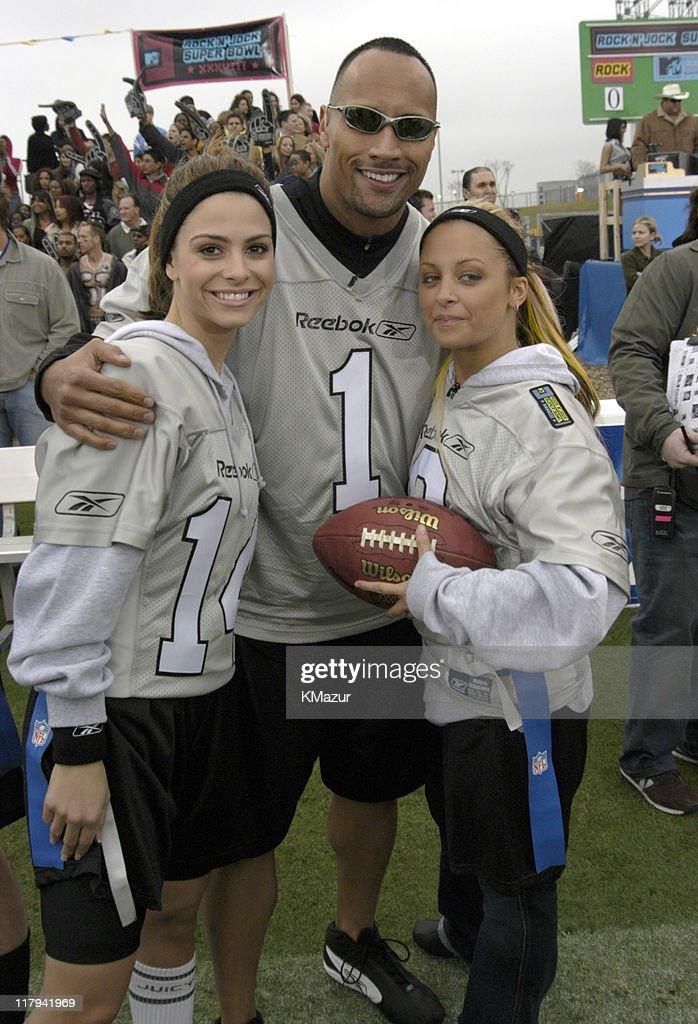 Maria Menounos, Dwayne 'The Rock' Johnson and Nicole Richie