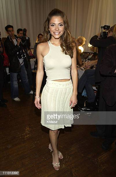 Maria Menounos from 'Entertainment Tonight' during 8th Annual Victoria's Secret Fashion Show Hair and Makeup at The New York State Armory in New York...