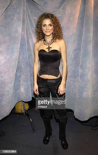 Maria Menounos from 'Entertainment Tonight' during Z100's Jingle Ball 2002 Backstage at Madison Square Garden in New York City New York United States