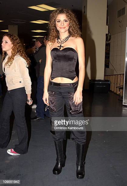 Maria Menounos from 'Entertainment Tonight' during Z100's Jingle Ball 2002 Press Room at Madison Square Garden in New York City New York United States