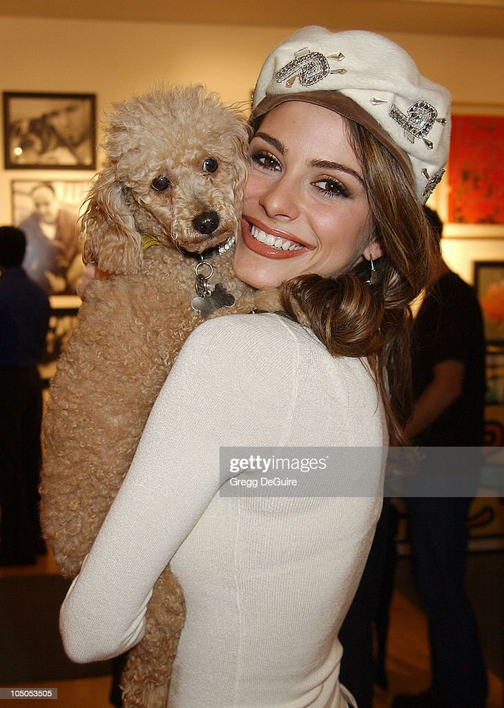 Maria Menounos & her dog Noelle during Exhibition by Celebrity Animal Photographer Christopher Ameruoso at Hamilton-Selway Fine Arts in West Hollywood, California, United States.