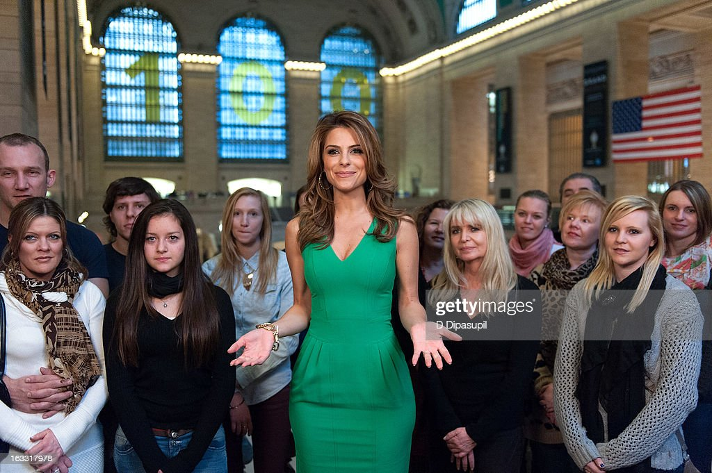 Maria Menounos hosts 'Extra' at Michael Jordan's The Steak House N.Y.C. in Grand Central Terminal on March 7, 2013 in New York City.