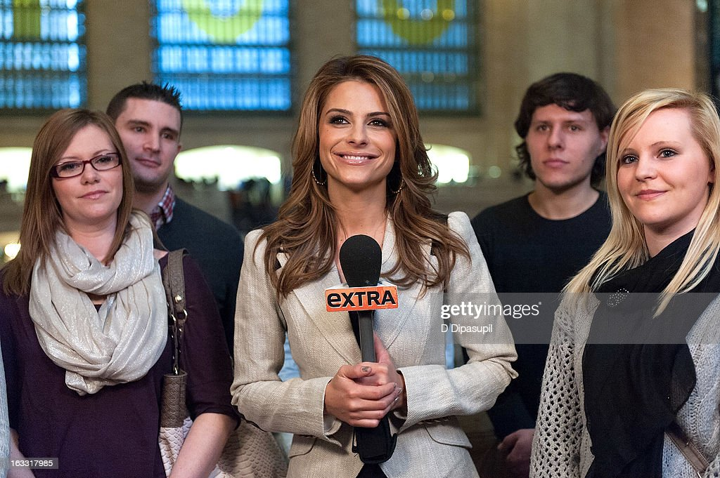 <a gi-track='captionPersonalityLinkClicked' href=/galleries/search?phrase=Maria+Menounos&family=editorial&specificpeople=203337 ng-click='$event.stopPropagation()'>Maria Menounos</a> hosts 'Extra' at Michael Jordan's The Steak House N.Y.C. in Grand Central Terminal on March 7, 2013 in New York City.