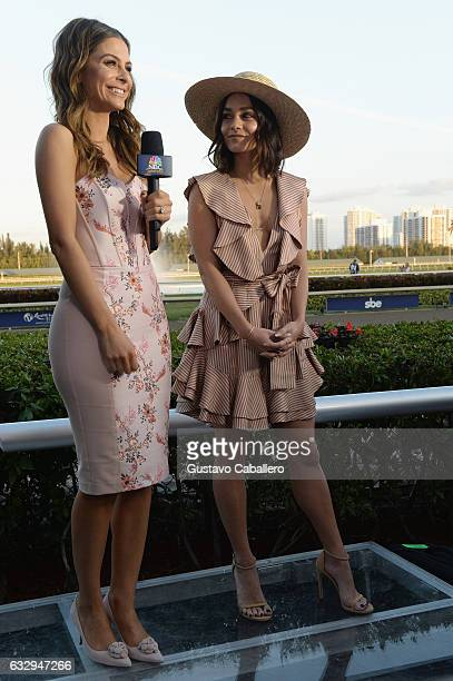 Maria Menounos interviews Vanessa Hudgens at The Inaugural $12 Million Pegasus World Cup Invitational The World's Richest Thoroughbred Horse Race At...