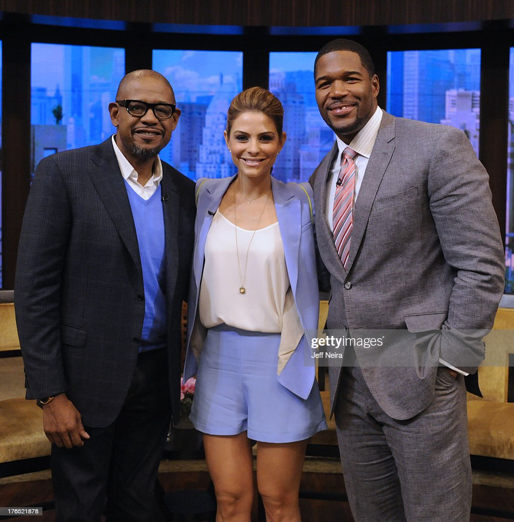 MICHAEL -8/14/13 - Maria Menounos is Michael's co-host and Forest Whitaker is a guest on 'LIVE with Kelly and Michael,' distributed by Disney-ABC Domestic Television. FOREST