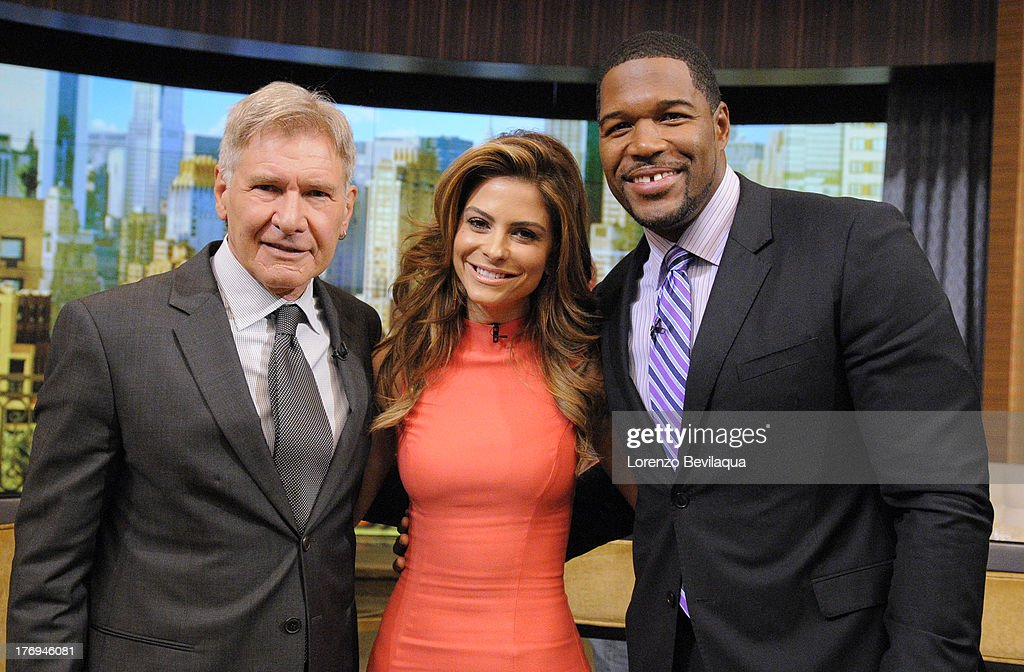 MICHAEL -8/15/13 - Maria Menounos is Michael's co-host and Harrison Ford is a guest on 'LIVE with Kelly and Michael,' distributed by Disney-ABC Domestic Television. HARRISON