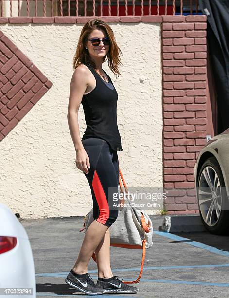 Maria Menounos is seen in Hollywood on April 18 2015 in Los Angeles California