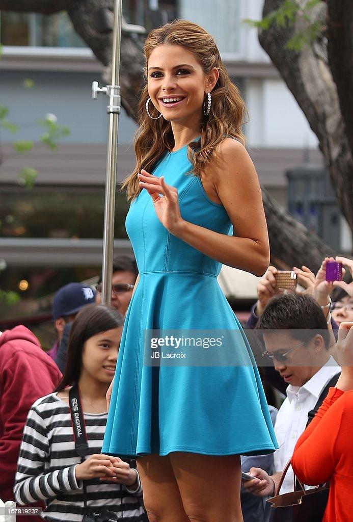 Maria Menounos is seen on April 30, 2013 in Los Angeles, California.