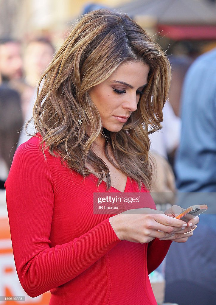 Maria Menounos is seen on January 17, 2013 in Los Angeles, California.