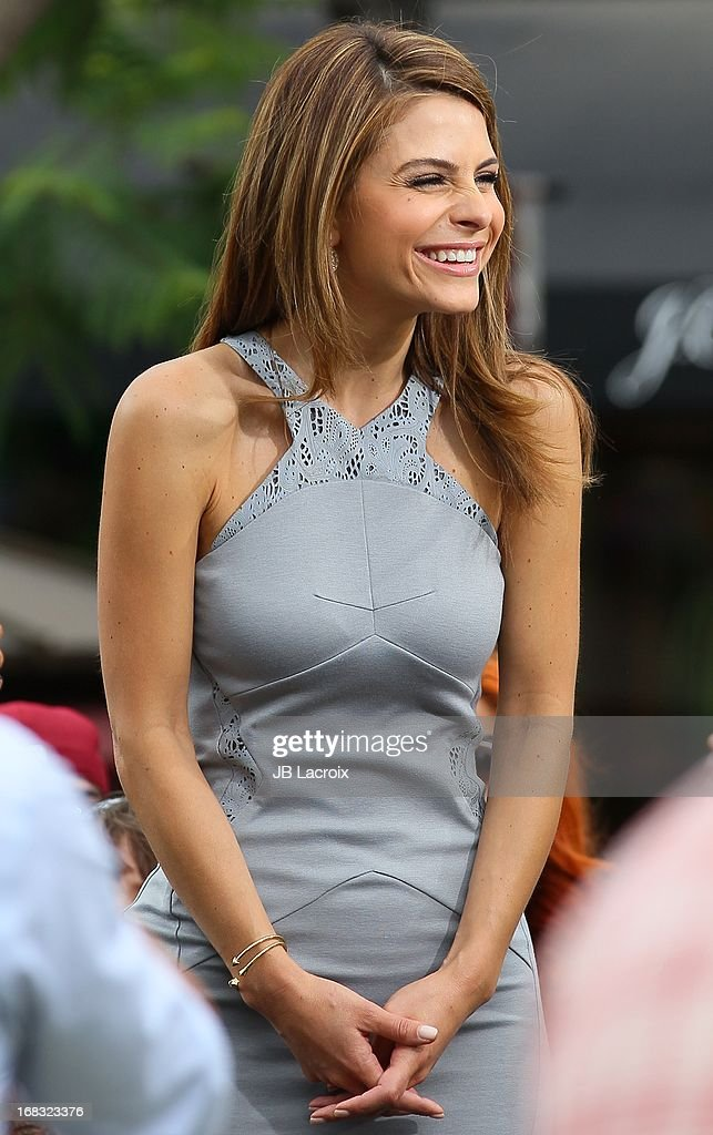 Maria Menounos is seen on May 8, 2013 in Los Angeles, California.