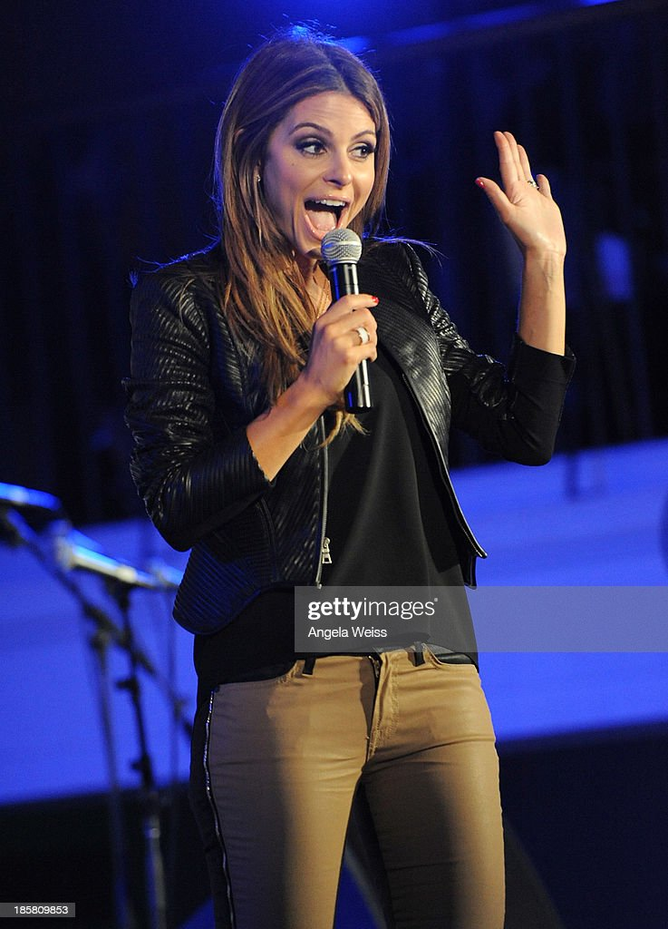 <a gi-track='captionPersonalityLinkClicked' href=/galleries/search?phrase=Maria+Menounos&family=editorial&specificpeople=203337 ng-click='$event.stopPropagation()'>Maria Menounos</a> on stage at Autism Speaks' 3rd Annual 'Blue Jean Ball' presented by The GUESS Foundation at Boulevard 3 on October 24, 2013 in Hollywood, California.
