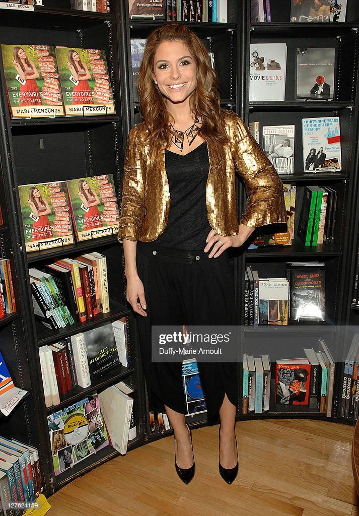 Maria Menounos signs copies of her book 'Everygirl's Guide to Life' at Book Soup on April 22 2011 in West Hollywood California
