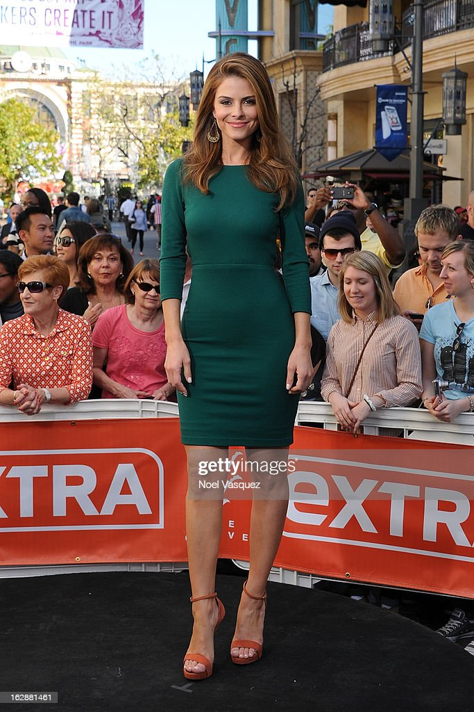 <a gi-track='captionPersonalityLinkClicked' href=/galleries/search?phrase=Maria+Menounos&family=editorial&specificpeople=203337 ng-click='$event.stopPropagation()'>Maria Menounos</a> visits Extra at The Grove on February 28, 2013 in Los Angeles, California.