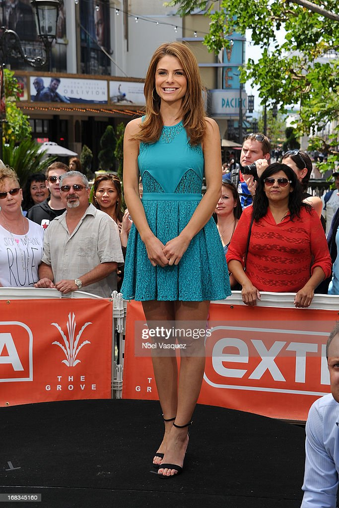 <a gi-track='captionPersonalityLinkClicked' href=/galleries/search?phrase=Maria+Menounos&family=editorial&specificpeople=203337 ng-click='$event.stopPropagation()'>Maria Menounos</a> visits 'Extra' at The Grove on May 8, 2013 in Los Angeles, California.