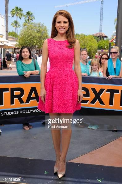 Maria Menounos visits 'Extra' at Universal Studios Hollywood on May 28 2014 in Universal City California
