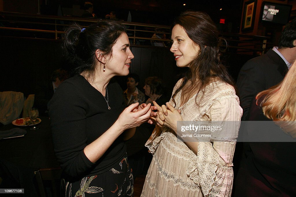 Maria Mileaf with Jessica Hecht during 'Howard Katz' Opening Night in New York City After Party in New York City New York United States