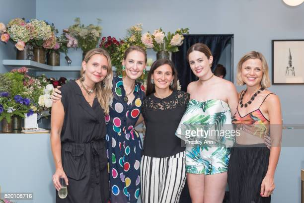 Maria MorianlutzTveite Lisa SalzerWiles Sandra Meryl Jessica Steele and Sarah attend Lulu Frost Opening Celebration at Lulu Frost on July 20 2017 in...
