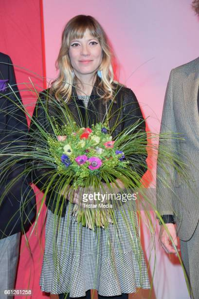 Maria Mummert alias Mieze Katz during the 9th GEMA Musikautorenpreis at Ritz Carlton on March 30 2017 in Berlin Germany
