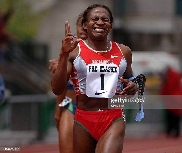 Maria Mutola of Mozambique won the women's 800 meters for the 14th year in a row in 15886 in the Prefontaine Classic at the University of Oregon's...