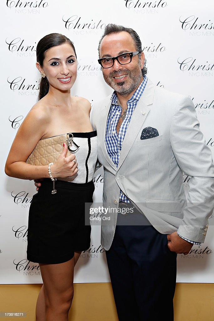 Maria Pardalis and Christo attend the Christo Men NYC Press Preview at Christo Fifth Ave on July 15, 2013 in New York City.