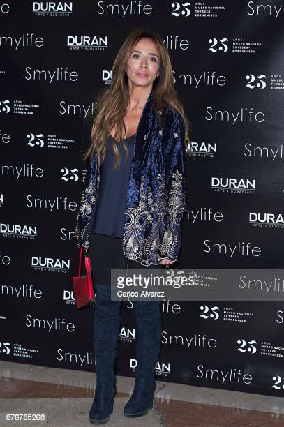 Maria Patino attends the 'Smylife Collection Beauty Art III' presentation at the ThyssenBornemisza Museum on November 20 2017 in Madrid Spain