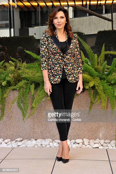 Maria Pia Calzone attends a photocall for 'La Cena di Natale' on November 16 2016 in Rome Italy