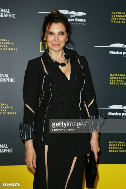 Maria Pia Calzone attends National Geographic's 'Genius Einstein' photocall at Auditorium Parco della Musica on May 10 2017 in Rome Italy