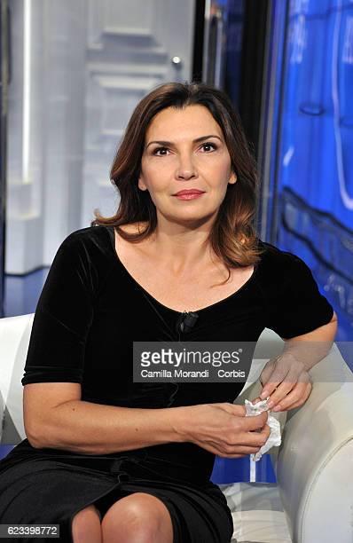 Maria Pia Calzone attends Porta a Porta Tv Show on November 15 2016 in Rome Italy