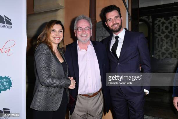 Maria Pia Calzone Bobby Moresco and Producer Andrea Iervolino attend AMBI GALA In Honour Of Andy Garcia And Bobby Moresco on March 23 2017 in Rome...