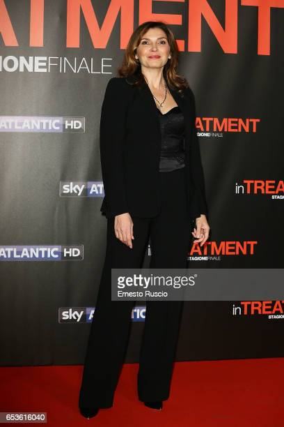 Maria Pia Calzone walks a red carpet for 'In Treatment' at Officine Farneto on March 15 2017 in Rome Italy