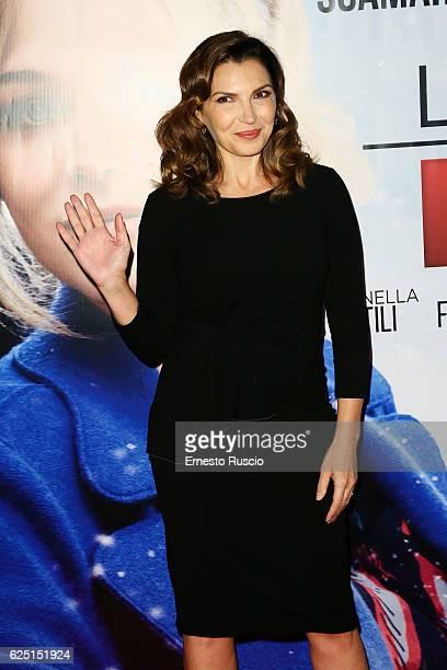Maria Pia Calzone walks a red carpet for 'La Cena Di Natale' at Cinema Adriano on November 22 2016 in Rome Italy