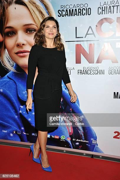 Maria Pia Calzone walks a red carpet for 'La Cena Di Natale' on November 22 2016 in Rome Italy