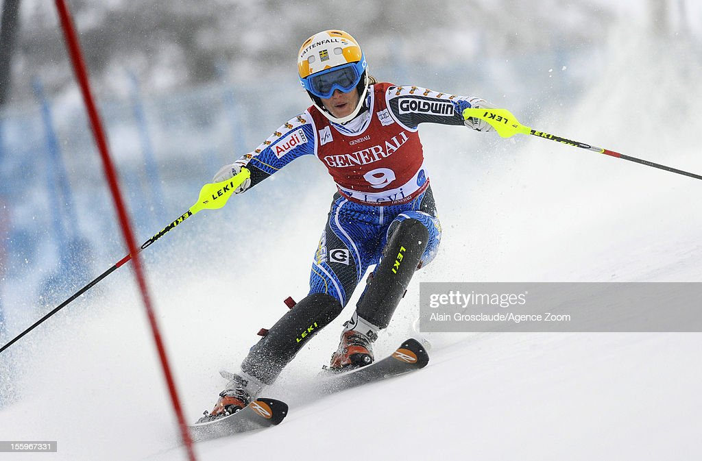 Maria Pietilae-Holmner of Sweden competes during the Audi FIS Alpine Ski World Cup Women's Slalom on November 10, 2012 in Levi, Finland.