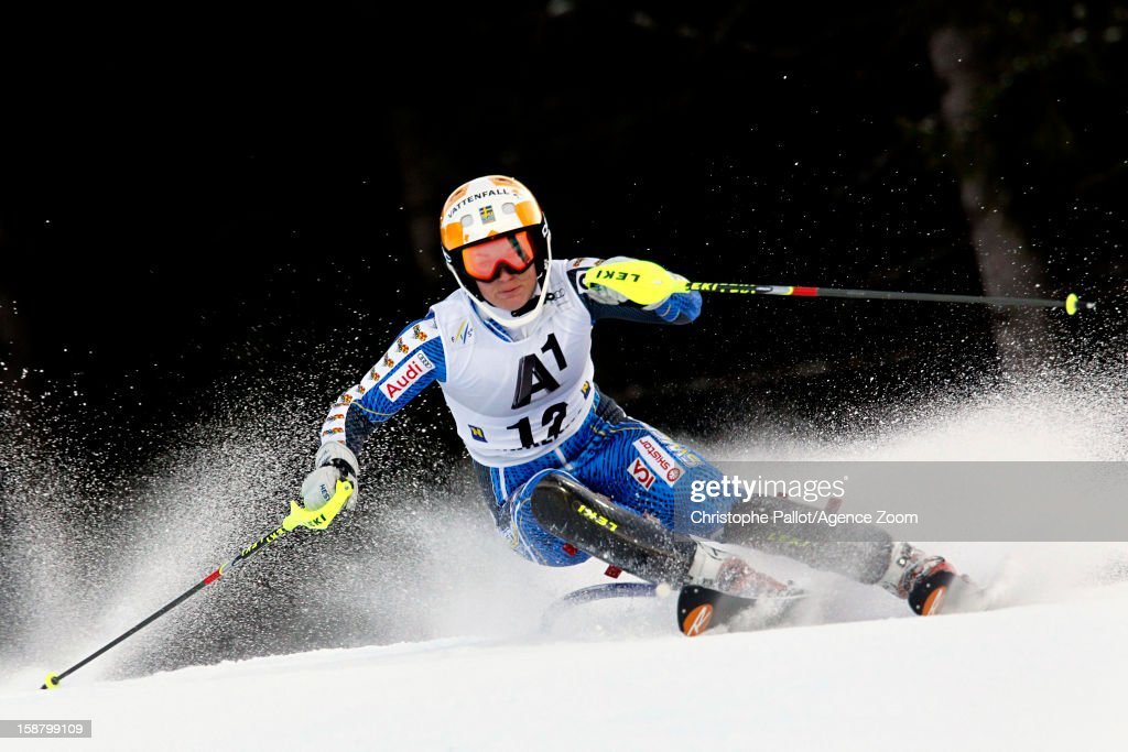 Maria Pietilae-Holmner of Sweden competes during the Audi FIS Alpine Ski World Cup Women's Slalom on December 29, 2012 in Semmering, Austria.